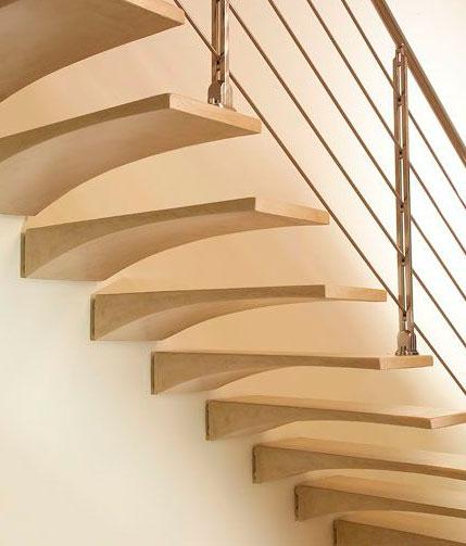 Escaleras ala de gabbiano escaleras martinez lastra for Scale rivestite in resina